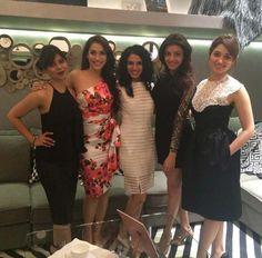 Tanaaz Bhatia, CEO/FOUNDER of Bottomline Media, Rashmi Nigam, Kajal Aggarwal and Tamannaah Bhatia were all decked up for a fancy dinner. #Bollywood #Fashion #Style #Beauty #Hot #Instagram