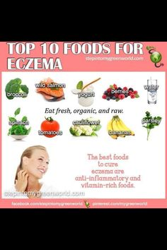 I think I only have water and broccoli in my house right now tsk tsk Top 10 foods to help with eczema.
