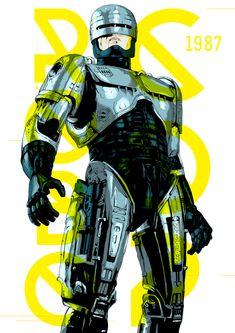 Digital poster designs - Robocop (1987), por Manu Ambady