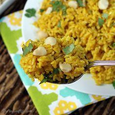 Golden Coconut Brown Rice