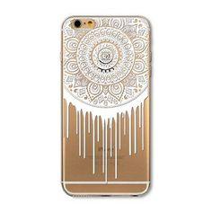 "Dreamcatcher Case For iPhone 6 6s Plus 4.7"" 5.5"" Soft Transparent Phone Back Skin Floral Paisley Flower Mandala Cover Coque"