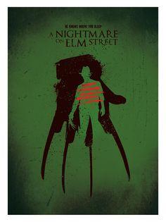 Alternative movie poster freddy krueger a nightmare on elm street horror movie art print. #art #design #elmstreet #horror #postermovie #posterfilm #alternativeposter #movieprint #wallart