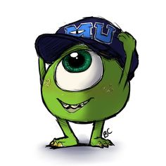 Mike Wasowski by Blue-Chica on DeviantArt