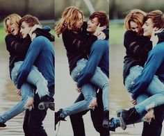 Miley Cyrus and Douglas Booth from LOL
