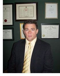 As a practicing defence lawyer in Ontario, he prides himself in bringing Maritime courtesy and work ethic into his Ontario firm.