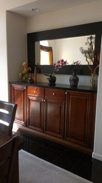 For Dining Room Blank Wall This Mahogany Will Tie In The Curtains And You Can Add Any Other Frames Mirror Art Above It Having A Buffet Table On