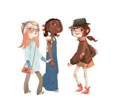 Aurélie Neyret - Character Design Page