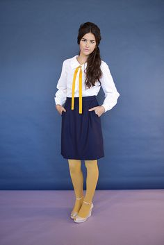 4 colonel mustard navy by Swonderful boutique, via Flickr