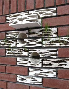 El ladrillo Biotope es una tipología de ladrillo diseñado para crear un entorno adecuado para la vida de las aves en las ciudades. Se diseñó especificamente pensando en la desaparición del gorrión común en los Países Bajos y la necesidad de que la naturaleza se recupere en las ciudades. El diseño se contextualiza en las tradicionales fachadas de ladrillo rojo sinónimo de la arquitectura tradicional holandesa.