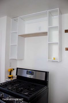 Do you want to get that microwave off the counter? See the process of installing an over-the-range microwave. Apartment Living, Small Kitchen Appliances, House, Microwave Above Stove, Updating House, Over Range Microwave, Range Microwave, Ladder Shelf Diy, Microwave Shelf Over Stove