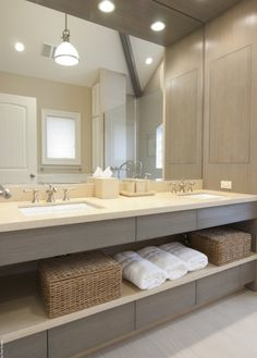 Love this...Hate stuff all over the counters, this makes them easy to reach and still a little organized. Bathroom-houzz