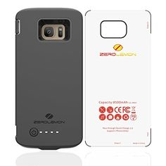 ZeroLemon Samsung Galaxy S7 Edge 8500mAh Battery Case with Soft TPU Full Edge Protection-Black(NOT FOR SAMSUNG GALAXY S7)