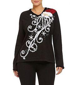 Santa & Rudolph Christmas Sweater Vest