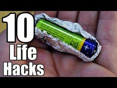10 New life hacks that you should try it and share it with your friends.How to seal plastic bag with hot knife,find end of tape with your tongue,2 dots bath ...