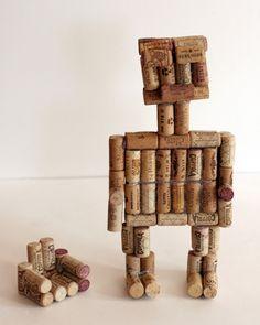 Do the robot. DIY wine cork project