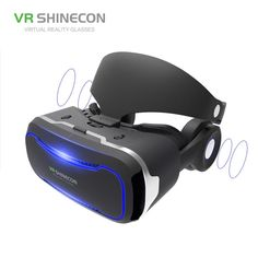 0420c376501e VR SHINECON VR Glasses With Headphones 3D Virtual Reality Glasses Headset  Pro Cardboard Helmet BOX For 4.7-6 inch Smart Phone