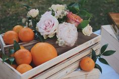 Garden roses, citrus decor, girl first birthday party, baby shower, floral arrangements, peonies and roses
