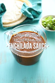 An easy dump-and-blend homemade enchilada sauce made with tomato paste, spices, nourishing broth, and green chilis.