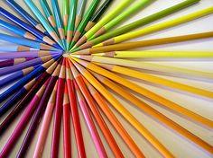Rainbow color pencils