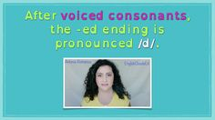 How do we pronounce the -ed ending of regular verbs? Well, it depends. Find out the answer in my new YouTube video! Coming soon! :)) Ed Endings, England, Clouds, Youtube, English, British, Youtubers, United Kingdom, Youtube Movies