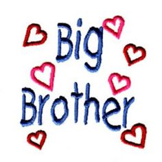 Big Brother machine embroidery design from embroiderydesigns.com