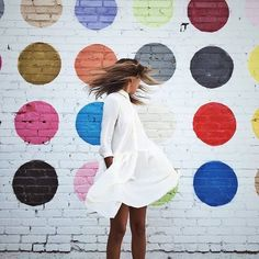 The Polka Dots Wall is a gem in Downtown LA and is located at 608 Mateo Street 💕😍 ph:… Muro Instagram, San Diego, Polka Dot Walls, Polka Dots, Plan My Trip, Downtown Los Angeles, Poses, Adventure Travel, Street Art