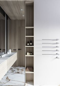 Beauty will save the world, and design will make your life perfect Modern Classic Interior, Flat Interior, Nordic Interior, Washroom Design, Toilet Design, Loft Bathroom, Bathroom Interior, Minimalist Bathroom Design, Powder Room Design