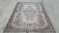 5.6x8.5 Feet 258x168 Cm Turkish Handwoven Carpet Rug Decorative Carpet Rug Overdyed Anatolia Vintage Overdyed Rug