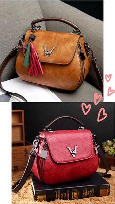 Vintage Elegant Tassel Bucket Bag Shoulder Bag Handbag Crossbody Bag For Women Brown red. Popular Handbags, Trendy Handbags, Cute Handbags, Cheap Handbags, Purses And Handbags, Luxury Handbags, Ladies Handbags, Fall Handbags, Hobo Handbags