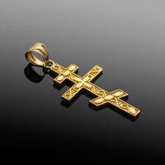 Russian Orthodox Cross, Eastern Orthodox Cross http://www.factorydirectjewelry.com/pendants/gold-russian-orthodox-cross-pendant/