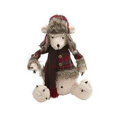 Plush Tartan Polar Bear Decoration – Beaumonde