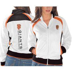 San Francisco Giants Ladies Gold Medal Track Jacket - White