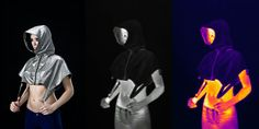 """""""Stealth wear"""" makes a countersurveillance fashion statement. Hoodies made of reflective fabric are intended to reduce one's thermal footprint. """"The science-fiction part has become a reality,"""" he said, """"and there's a growing need for products that offer privacy."""""""