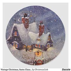 Christmas Porch, Christmas Photo Cards, Retro Christmas, Christmas Tree Ornaments, Christmas Gifts, Christmas Plates, Christmas Eve, Holiday, Vintage Santa Claus