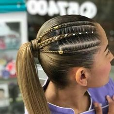 Trenzas Kids Braided Hairstyles, Teen Hairstyles, Little Girl Hairstyles, Natural Hair Styles, Short Hair Styles, Hair Inspiration, Hair Makeup, Hair Cuts, Hair Beauty