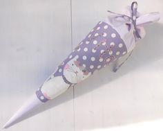 Schultüten - Zuckertüte Schultüte Stoff Katze Blumen  - ein Designerstück von buntgemacht bei DaWanda