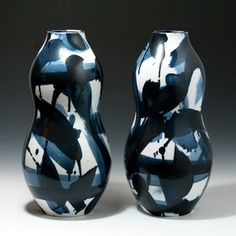 Felicity Aylieff: A Pair of Blue & White Gourds, 2013