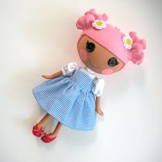 Dorothy Costume for Lalaloopsy Doll Dress from by PistachioLoopsy, $19.00