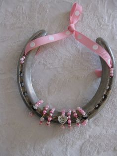 Authentic Thoroughbred Race Horse Decorated Horseshoe