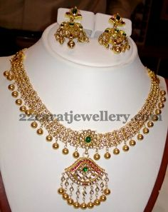 60 Gms of Tussi Gold Set | Jewellery Designs