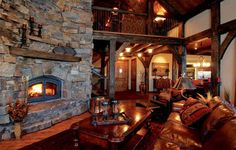 rustic living room - when can i move in??