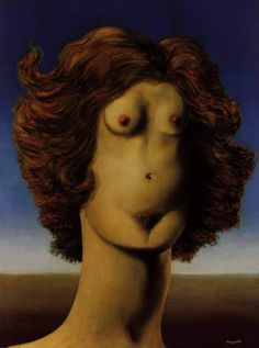 Rape, 1945 by Rene Magritte