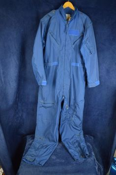 #Flight #Suit #Summer #Coveralls #Flyers #Size48 #Long #Blue #SEECONDITION #Mechanic