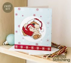 FAB FREE KIT - Fizzy Moon cross stitch card kit. Only with issue 223 of The…