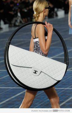 I LOVE BIG purses but maybe not hula hoop size!