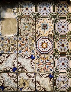 TatiTati Boho Style - old tiles Handmade tiles can be colour coordinated and customized re. shape, texture, pattern, etc. by ceramic design studios