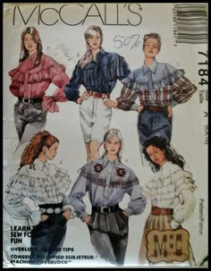 McCall's 7184   Misses' Shirts   Western Style  by ThePatternShopp