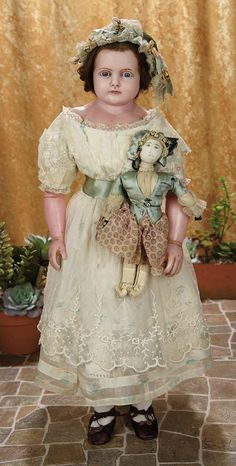 English Wax Child Doll with Beautiful Serene Expression 800/1300