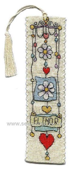 Buy String of Daisies Bookmark Cross Stitch Kit Online at www.sewandso.co.uk