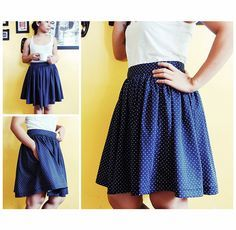 DIY gathered skirts with pockets